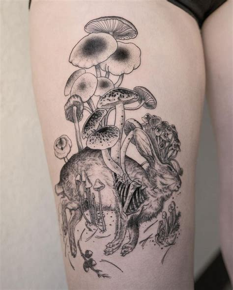 mushroom tattoo best 25 tattoos ideas on