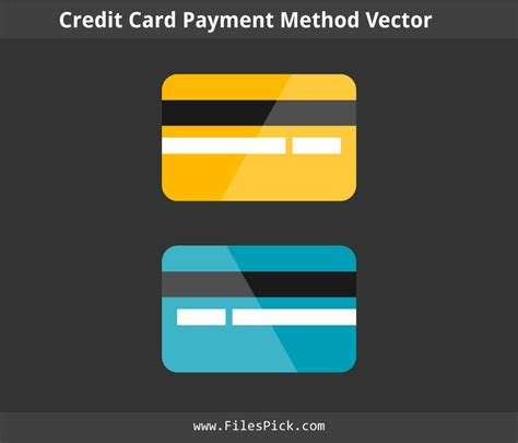 credit card template vector credit card payment method vector template by filespick on