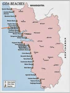 Below complete location map of baga beach goa india for your reference