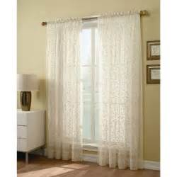 Sheer Voile Curtain Panels 84 Inch Sheer Window Panel Find Voile Curtains At Sears