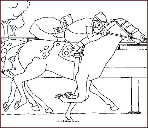 coloring pages of race horses race horses and riders