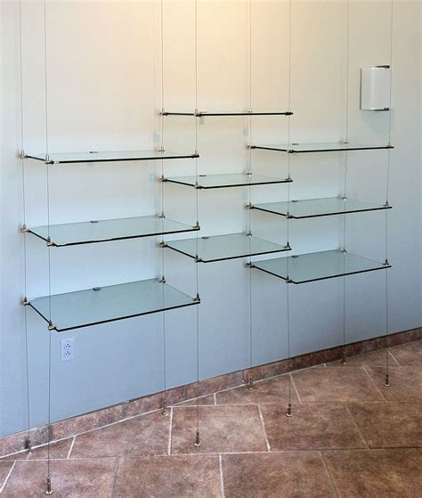 12 photo of hanging glass shelves from ceiling