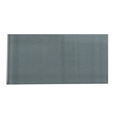 splashback tile contempo blue gray polished glass mosaic floor and wall tile 3 in x 6 in x 8