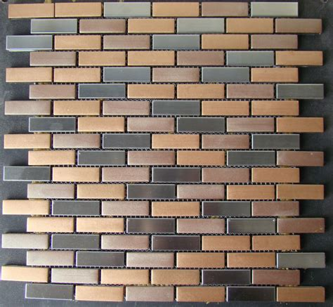 bronze tile backsplash quot rustic mosaic quot copper bronze glass tiles stainless steel tile backsplash bath ebay