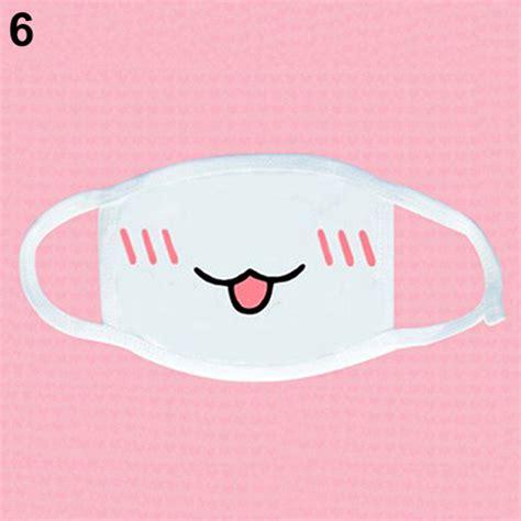 Masker Kawaii newest white anime emoticon muffle kaomoji anti dust kawaii lovely mask us45