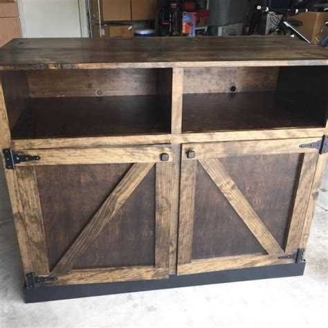 Barn Door Tv Media Center Shanty 2 Chic Barn Door Media Center