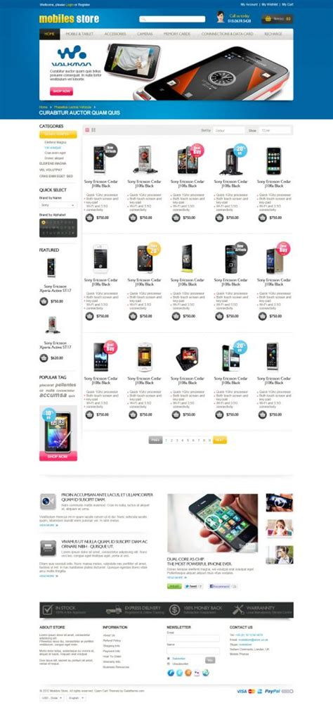mobile themes opencart mobile store responsive opencart theme boss themes