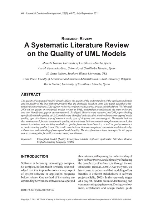 review of the literature exle for a research paper systematic literature review template gallery