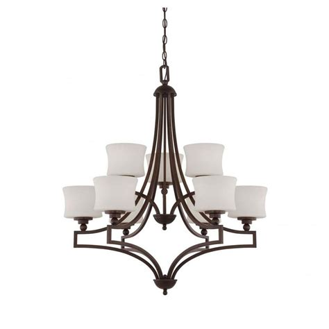 Filament Design Proleg 9 Light English Bronze Chandelier Filament Chandelier
