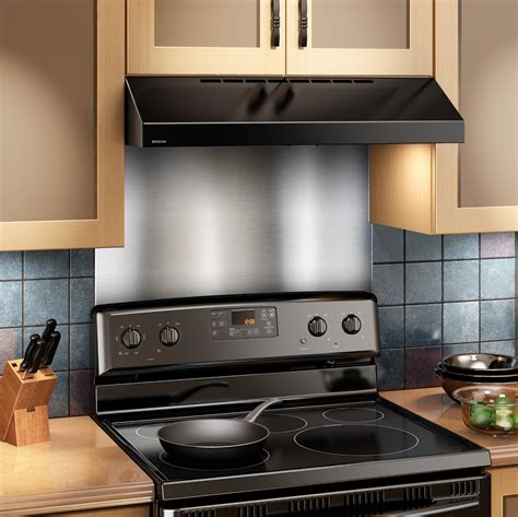 kitchen stove backsplash broan sp3004 backsplash range wall shield 24 by 30 inch stainless steel home
