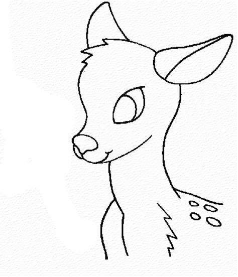 print download deer coloring pages for totally