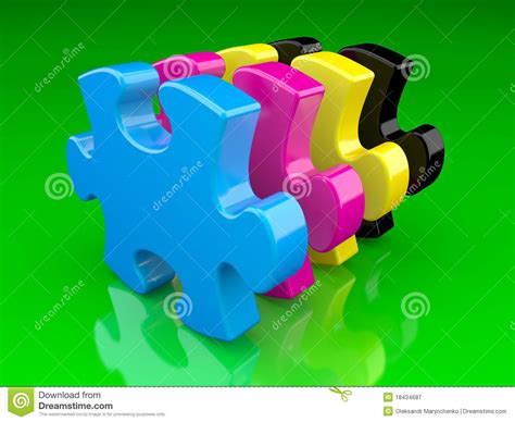 cmyk puzzle cmyk color puzzle royalty free stock photography image