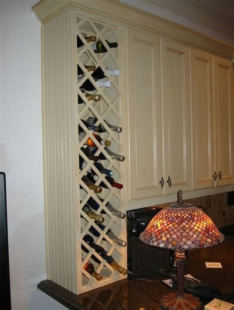 Built In Wine Racks For Kitchen Cabinets Kitchen Cabinets With Built In Wine Racks Ideas