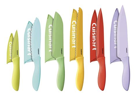 cuisinart 12 ceramic coated color knife set with