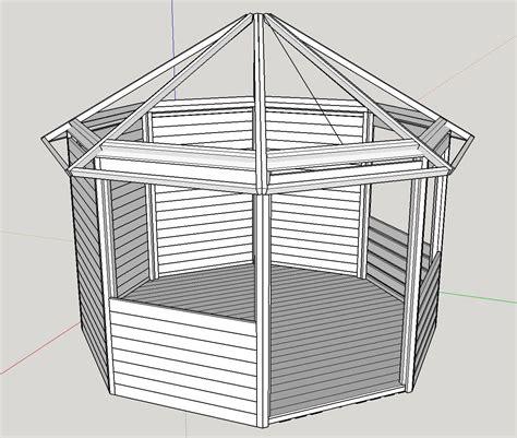 8 Eck Pavillon by Garten Pavillon 8 Eck Selber Bauen Pavillon Gartenhaus
