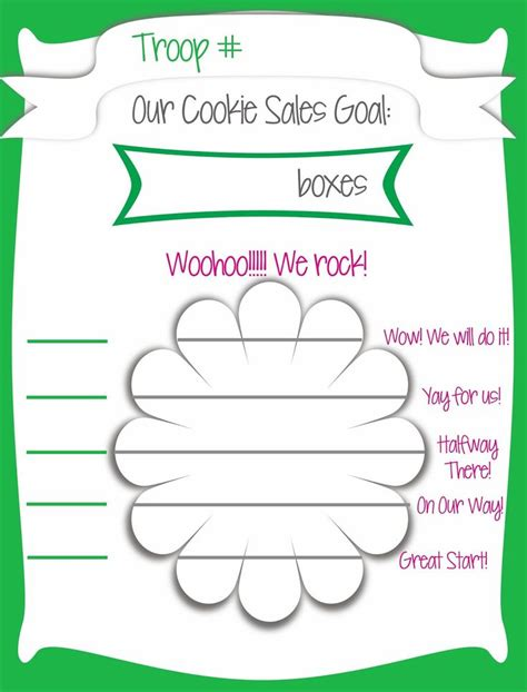 free printable goal poster 79 best ideas about girl scout cookie sale on pinterest