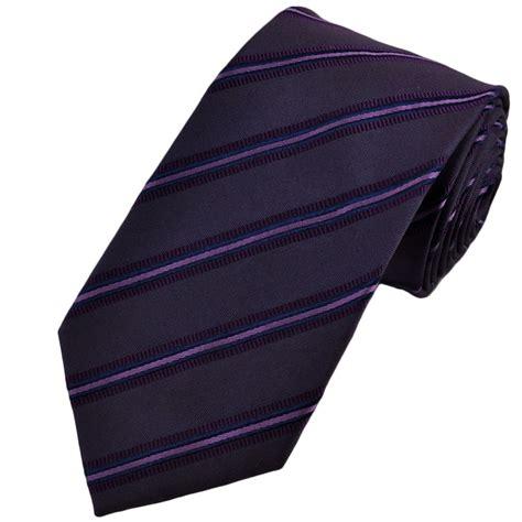 purple lavender navy blue striped silk tie from ties