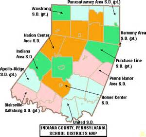 school districts in map indiana area school district