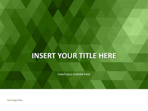 green mosaic powerpoint template