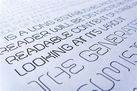 printed fontfabric typefaces on behance