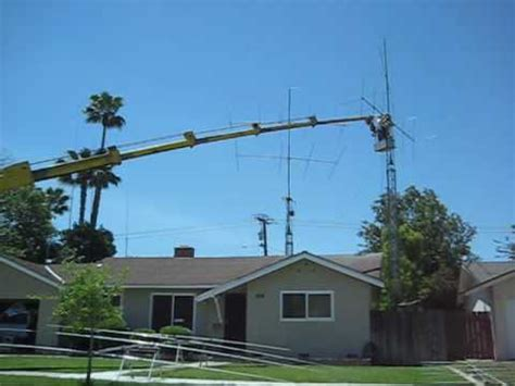 bennys ham radio antenna  tower work youtube