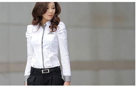 Kemeja Wanita Kemeja Lengan Panjang Kemeja Putih Yb 1 yuk mix and match baju kemeja putih wanita toko baju jual kemeja wanita baju korea