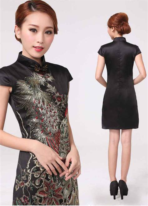 jual cheongsam dress cheongsam imlek 2015 warna hitam model terbaru