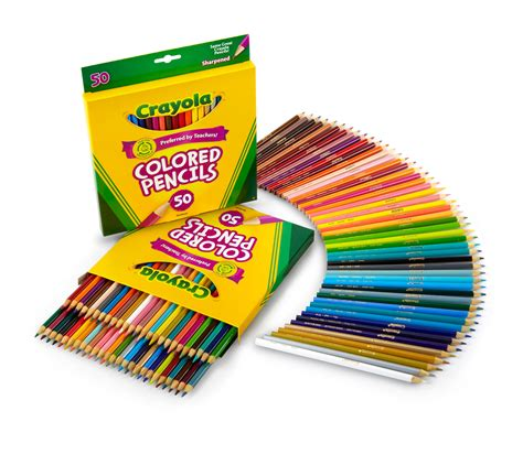crayola 100 colored pencils crayola 50 count colored pencils 2 pack