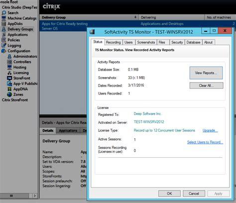change terminal server softactivity ts monitor windows terminal server