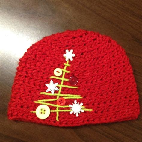 christmas crochet hat crafts diy pinterest
