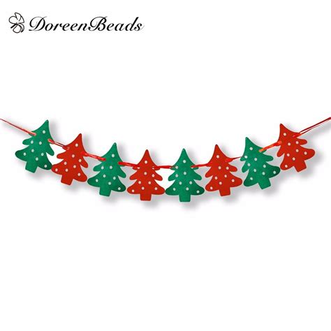doreenbeads home  shop decoration decorative flags christmas tree banner christmas banners