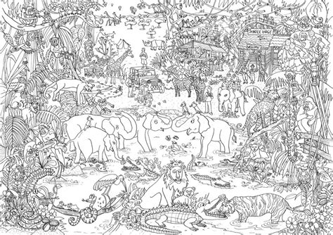 jungle coloring pages for adults jungle let s color pinterest adult coloring and craft
