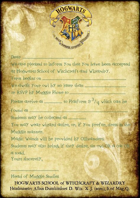 Pin By Cherea Steele On Harry Potter Party Pinterest Harry Potter Birthday Harry Potter Hogwarts Birthday Invitation Template