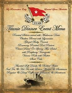 Titanic dinner event disney secrets