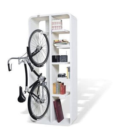 bike storage for small apartments bookbike how to store your bike and books and look