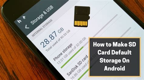 How To Make Sd Card Default Storage On Android Tips