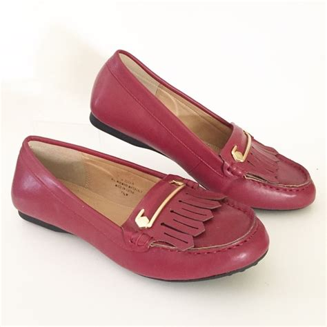 comfort view shoes comfortview comfortview red penny loafer fringe buckle 7