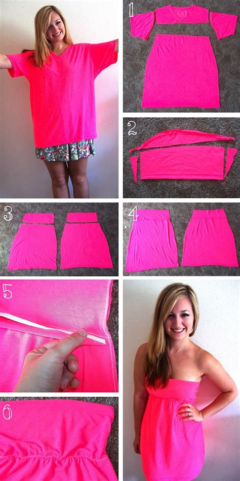 T Shirt 10 Into how to turn a t shirt into a dress diy alldaychic