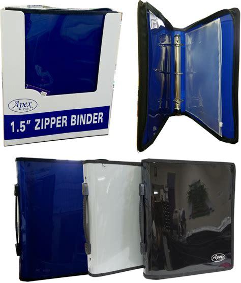 wholesale 1 5 quot 3 ring zipper binder in assorted colors