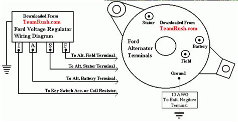 alternator voltage regulator wiring ford truck