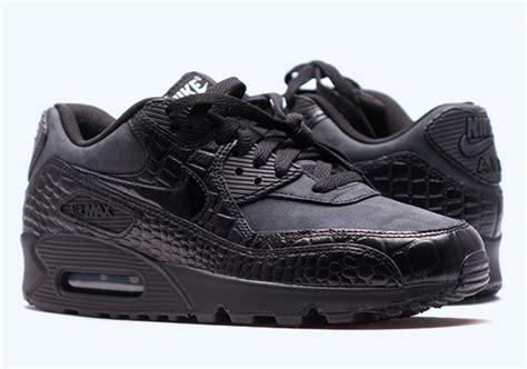 Nike Air Max 90 Snake Olahraga Runing Pria Kerja Kets Is 763 nike s air max 90 premium quot black reptile quot kicksusa