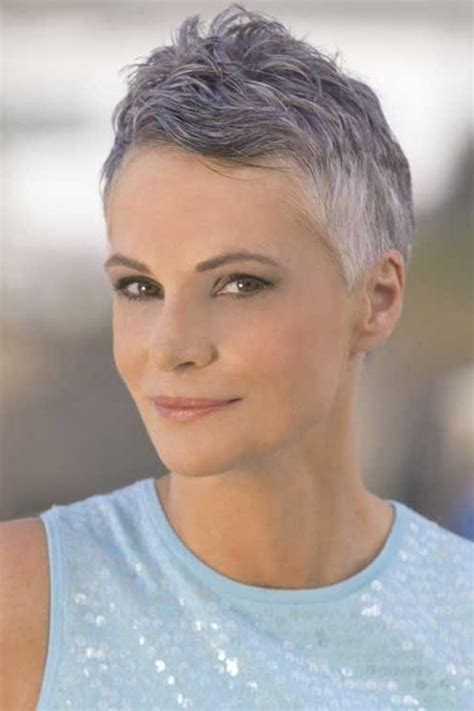 trendy gray hair styles 20 ideas of short pixie haircuts for gray hair