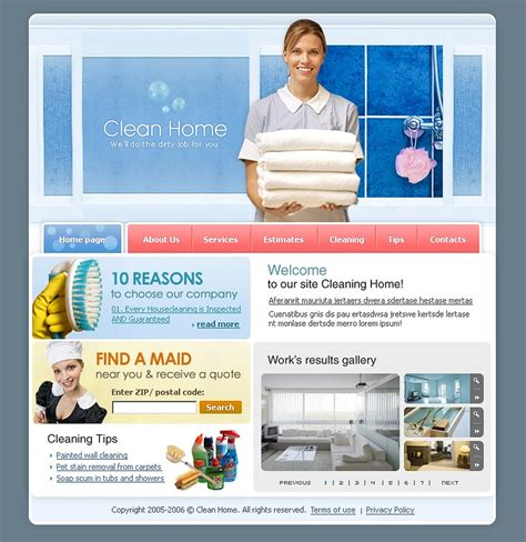 Cleaning Website Template 9883 Housekeeping Website Templates Free