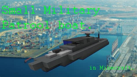 how to make a small boat in minecraft pe small military patrol boat in minecraft youtube