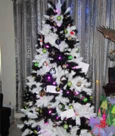 zebra striped christmas tree treetopia