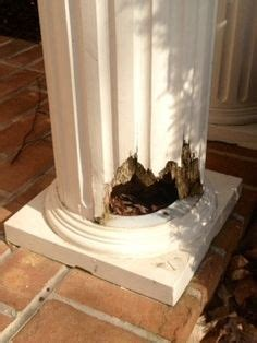 diy porch post repair fix  rotted wood post youtube