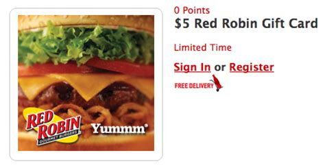 Red Robin Gift Card Balance - hurry free 5 red robin gift card at my coke rewards