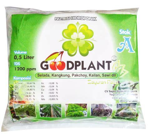 Nutrisi Ab Mix Hidroponik Sayur nutrisi hidroponik ab mix goodplant sayuran daun 0 5 l