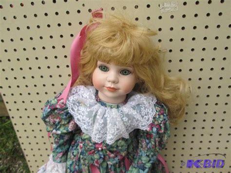 2 foot porcelain doll porcelain doll stands approx 2 vintage