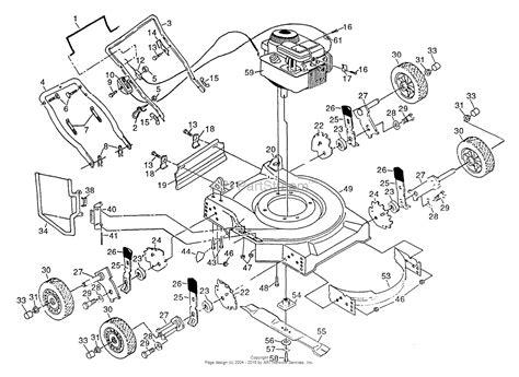 poulan lawn mower parts diagram poulan pp2035a mower parts diagram for assembly